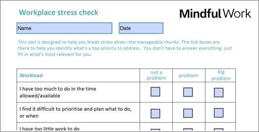 Stress Check tool